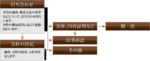 受任後の流れ (民事一般)図