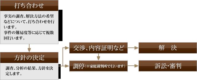 受任後の流れ (家事一般)図
